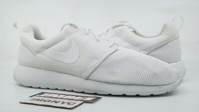 finest selection 2d441 a60ad NIKE ROSHE RUN Used Size 14 Triple White 511881 112