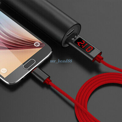 Voltage Current LED Display Type-C USB Sync Charging Cable for iPhone X Samsung