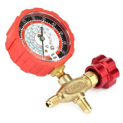 Air Condition Manifold Gauge Manometer& Valve Fit for R404a R22 R410 R134A New