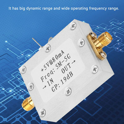 5M-5GHz Wideband RF Signal Amplifier Gain 19dB@2G Broadband Amplification 1PC