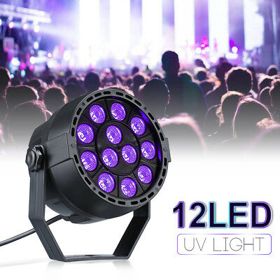 Disco Party DJ LED UV DMX Stage Effect Lighting Lamp Magic Party Spotlight 12W