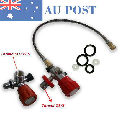 PCP Paintball Scuba 4500Psi Air Cylinder Tank Valve Adapter &Fill Station+Hose
