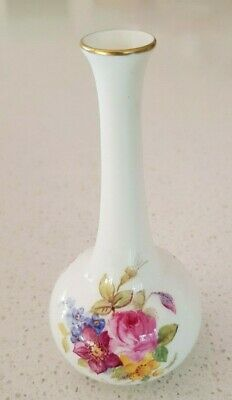 Antique Royal Worsester Vase Hand Painted Porcelain Bud Bone China #2491 K Blake