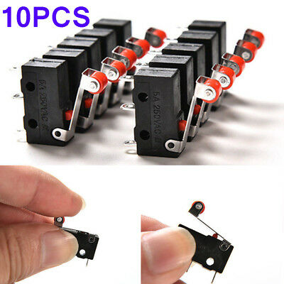 10Pcs KW12-3 PCB Microswitch Hot Micro Roller Lever Arm Open Close Limit Switch
