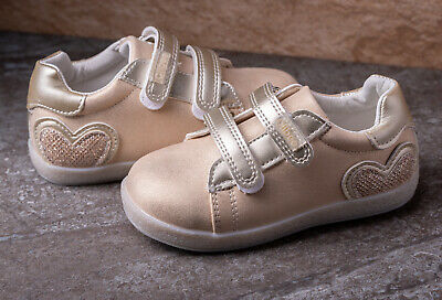 Girls Trainers  Shoes  gold size 4.5 - 8.5