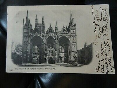 West Front of Peterborough Cathedral Postcard Cambridgeshire Undivided Back 612/