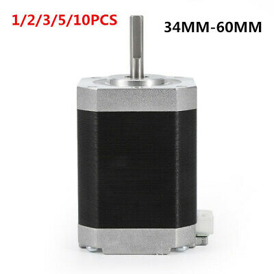 1/2/5PCS Nema 17 Stepper Motor 1.8° 4-wires 60mm/48mm/40mm/34mm 1.5A Bipolar GO1