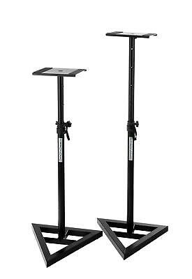Pair Stable Dj Pa Hifi Speaker Stands Studio Monitor Table Height Adjustable Set
