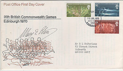 """Dame Mary Peters - Signed - """" Sports """" First Day Cover"""