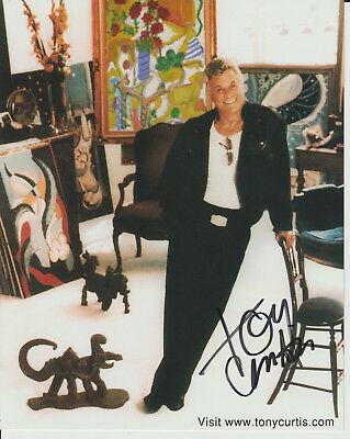 Tony Curtis - Signed - Col.picture At His Art Studio