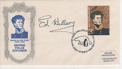 """Sir Ed Hillary - Signed - """"explorers"""" First Day Envelope"""