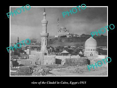 OLD LARGE HISTORIC PHOTO OF EGYPT THE CITADEL IN CAIRO c1915