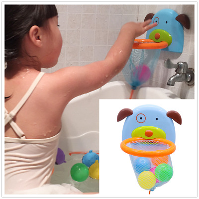 1 Set Funny Bath Toy Throw Balls Board Mini Gift for Baby Kids Toddlers Bath