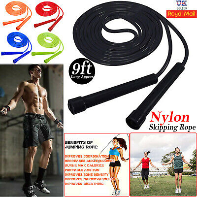 Adjustable Skipping Rope Speed Jump 3M/10FT Boxing Fitness Rope Training Gym