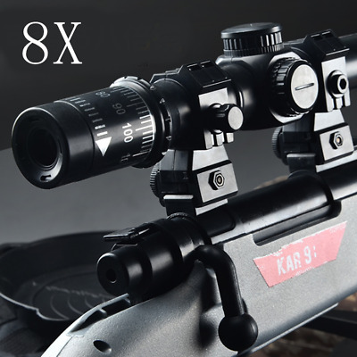 4/8/15X Scope Red Dot Sights Tactical Magnifier For Jinming Gel Ball Blaster Toy