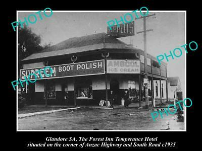 OLD LARGE HISTORICAL PHOTO OF THE FOREST INN HOTEL, GLANDORE SA c1935