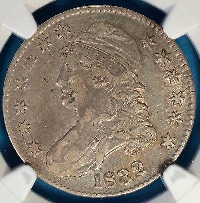 1832 Capped Bust Half Dollar NGC VF35- Small Letters, Light Tone