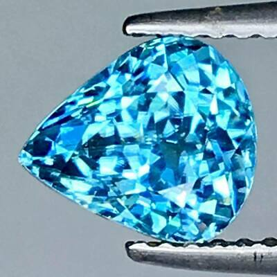2.655 Cts Blue Natural Zircon Pear Cut Loose Gemstones ,see Video