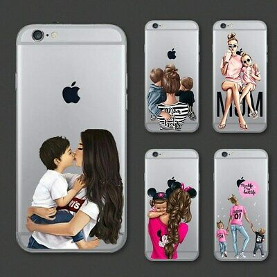 Cute Cartoon Baby Mom Girl Queen Soft Case For iPhone 11 Pro Max XS XR 8 7 6 6P