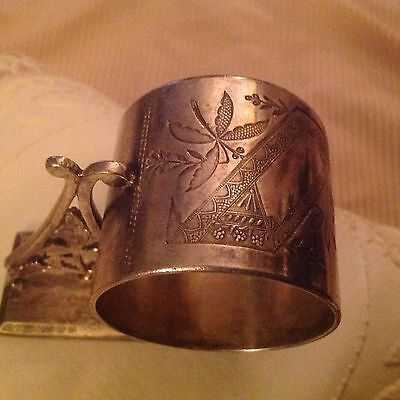 Vintage Rogers Smith & Co.napkin ring No.156 silver plate