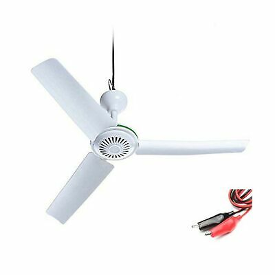"28"" inch 12V DC Ceiling Fan 12V Battery Power ceiling fan Portable ce."