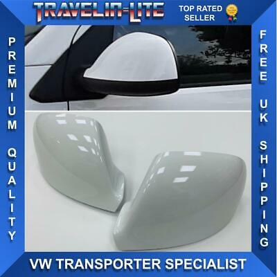 VW T5.1 T6 Transporter Candy White Mirror Cover Caps Pair Brand New