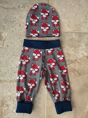 Vgc Maxomorra Fox Trousers & Hat Set 12-18 Months