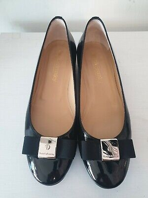 Russell & Bromley black patent bow pumps UK 7 / 40
