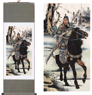 """Home decor Chinese silk scroll painting Mountains painting /""""千手观音/"""" decoration"""