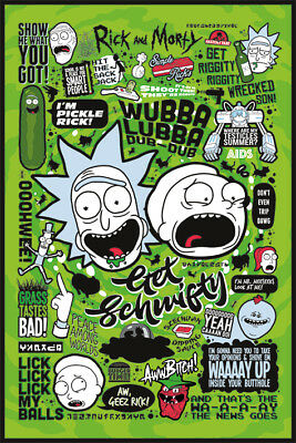 Rick And Morty Quotes 91.5X61Cm Maxi Poster New Official Pyramid International