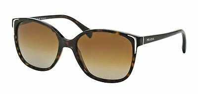 0d95ff33501c New Prada PR 01OS 2AU6E1 Havana Plastic Sunglasses Brown Gradient Polarized  Lens