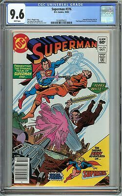 Superman #376 CGC 9.6 Supergirl backup story Perry White app DC Comics Not 9.8