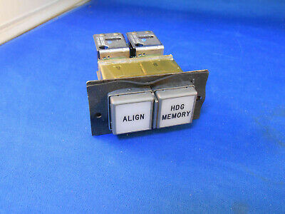 211-611-5262-007 Korry Push Switch Light Ind. White W/ Blk Legend  New Old Stock