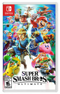 NEW Super Smash Bros Ultimate (Nintendo Switch, 2018) New not sealed FREE SHIP!!