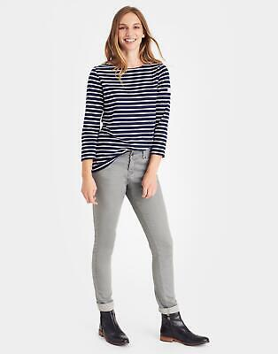 Joules Womens Harbour Jersey Top Shirt in Hope Stripe French Navy Size 6