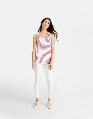 Joules Womens Bo Vest in Bright Pink Stripe