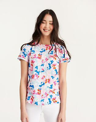 Joules Womens Nessa Print Jersey T shirt in Bright White Ditsy