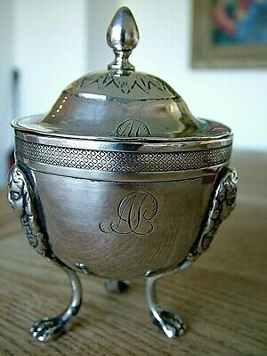 Unusual Continental Russian Antique Silver Cup & Cover Cast Legs Hallmarked Nr