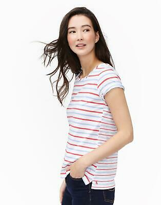 Joules Nessa Jersey T shirt in Blue Red Stripe