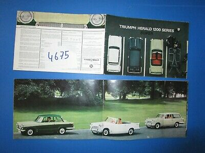 N°4675 /  TRIUMPH Herald 1200 berline,cabriolet,break / catalogue français 1966