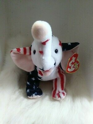 """2000 TY Beanie Baby """"Righty"""" Retired with Tags"""