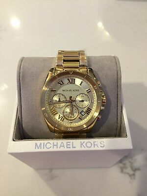 NEW AUTHENTIC MICHAEL Kors Brecken Gold Chronograph Women's