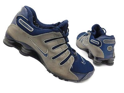 Nike Shox NZ Mens Running Shoes Black Silver Leather 309720-442 Blue SIZE  10.5 35122e879