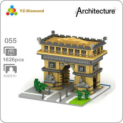 YZ Architecture Amusement Park Big Castle Mini Diamond Building Nano Blocks Toy