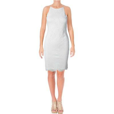 SPEECHLESS WOMENS IVORY Halter Lace Party Dress Juniors 9 BHFO 9805 ... c09080d28