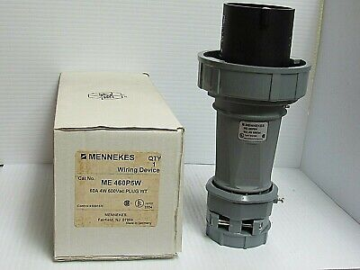 New Mennekes Water Tight Sleeve Plug Connector Me 460P5W 60 Amp A 60A 4W 600V