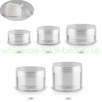 3/5/10/15/20g Travel Empty Jar Eye Creme Gel Lip Balm Cosmetic Sample Container