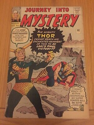 Journey Into Mystery 92 Early Thor Silver Age Loki App Pence Copy