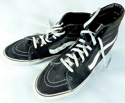 f3b5f61fdad0 Vans Off The Wall Mens Skate Shoes Vintage High Tops Black Suede Leather Size  14