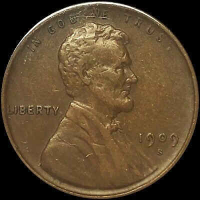 1909-S Lincoln Head Wheat Cent Penny. SAN FRANCISCO MINT NICE FREE SHIPPING!!